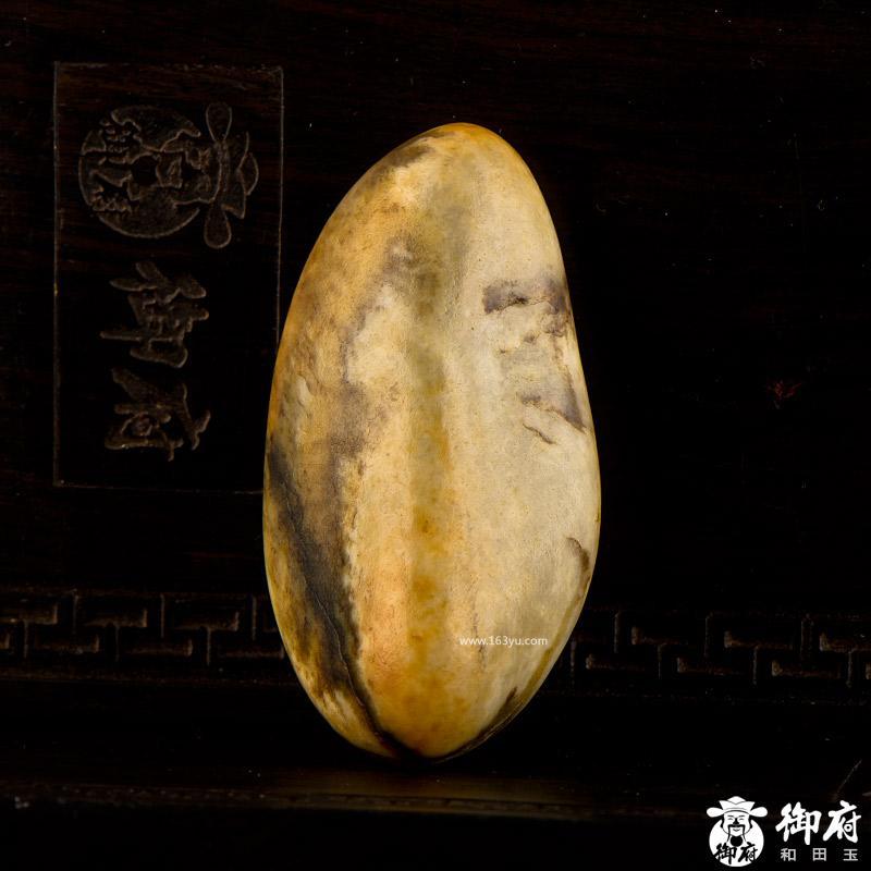 新疆和田玉黄皮白玉籽玉 原石 47克(实价)