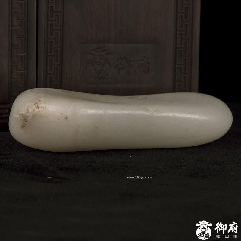 新疆和田玉原毛孔皮白玉籽玉原石 348.1克 实价